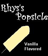 I Adopted Rhys's Popsicle!  Yummy!